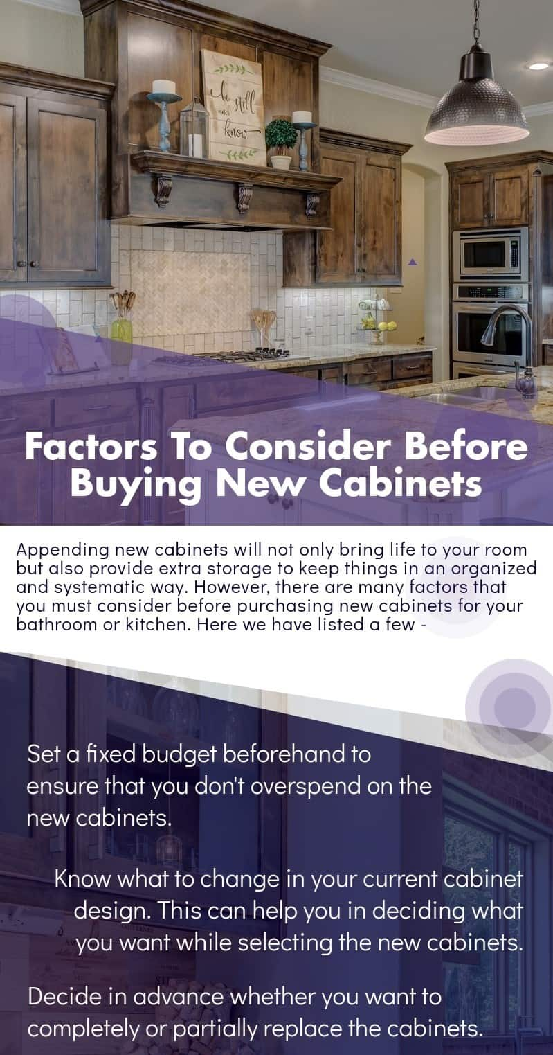 Factors To Consider Before Buying New Cabinets