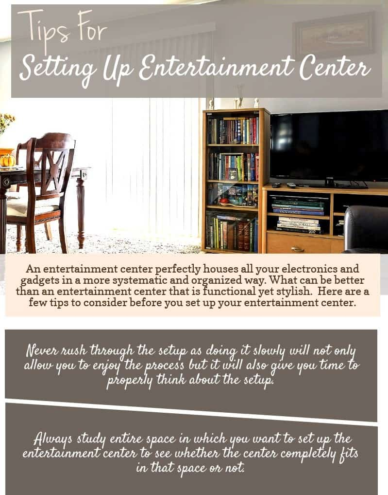 Tips For Setting Up Entertainment Center