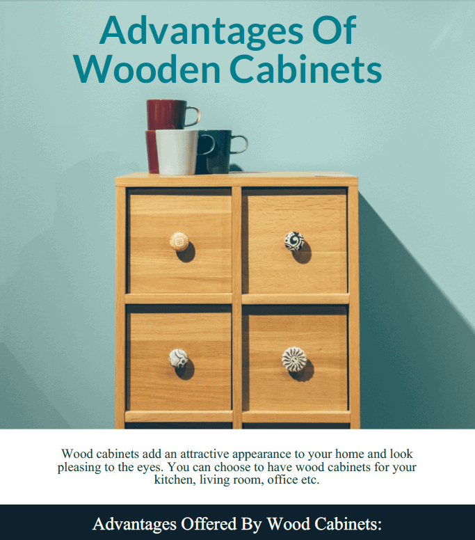 Advantages Of Wooden Cabinets