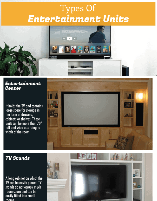 Types Of Entertainment Cabinets